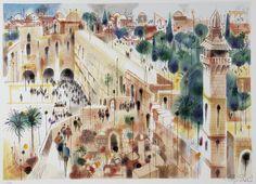 S-247 Jerusalem (Serigraph) by Shmuel  Katz at Safrai Fine Art gallery - Jerusalem