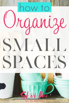 Have a closet, drawer, or cabinet in your home that& always disorganized? Learn how to get and keep small spaces organized in just a few steps. These easy tips are great for organizing the closet, bathroom, or kitchen. Small Space Organization, Home Organisation, Household Organization, Kitchen Organization, Organization Hacks, Organized Kitchen, Organizing Ideas, Kitchen Storage, Storage Spaces