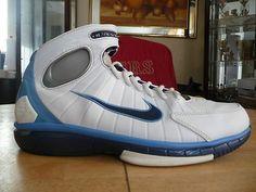 innovative design 2c929 66e87 OG Nike Air Zoom Huarache 2K4 White Navy Light Blue Kobe Rare Clothing,  Huaraches,