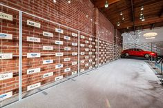 A cutout step-and-repeat wall allowed the exposed brick behind to show through. Photo: Sean Twomey/2me Studios