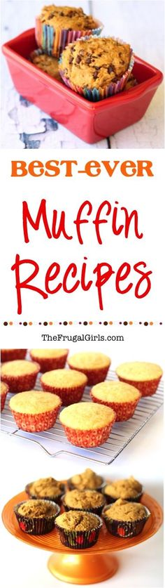 Best Ever Muffin Recipes! ~ from TheFrugalGirls.com ~ put the happy in your mornings with these Easy and Delicious Muffins!  The perfect recipes for a grab and go breakfast! #thefrugalgirls