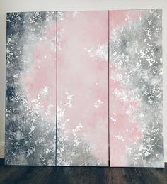 "Gefällt 2,939 Mal, 61 Kommentare - Ines  (@itsonlylove_) auf Instagram: ""Rosa, Silber und Grau  #itsonlyloveart #acrylic #triptychon #3x30x90 #painting #art…"""