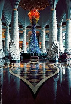Grand Lobby of Atlantis ~ The Palm, Dubai, United Arab Emirates
