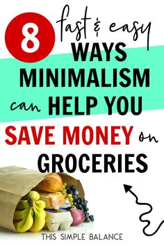 Simple Ways to Save Money on Groceries like a Minimalist (without coupons or complicated systems! Save Money On Groceries, Ways To Save Money, Money Tips, Money Saving Tips, Saving Ideas, Best Coupon Apps, Overwhelmed Mom, Minimalist Lifestyle, Frugal Tips