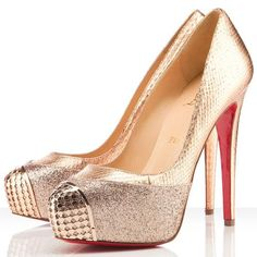 Christian Louboutin Maggie 140mm Pumps Gold