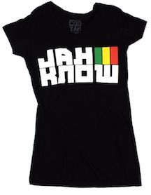 """""""Jah Know"""" reggae Cooyah t-shirt 100% COTTON  Cooyah Vintage Tee  Long Body Fit For Women  """"Jah Know"""" Is Jamaican Slang Term From Jamaica To New York  Hot Reggae T-shirt With Rasta Colors Get Yours Today!  #rasta #fashion #irie"""