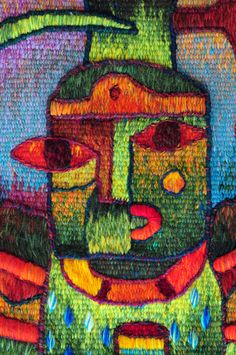 Handwoven Tapestry Art by Maximo Laura - Tapestry Detail. www.maximolaura.com