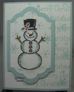 Snow Place, Lots of Labels Framelits, Snow Friends Framelits, hand made cards by Stampin' Up!,