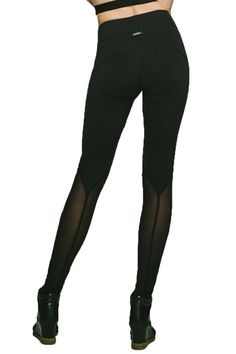 They're high performance leggings with mesh inserts that add dimension and provide ventilation. #mesh