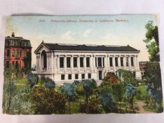 Vintage University of California Berkeley Library postcard postmarked 1913