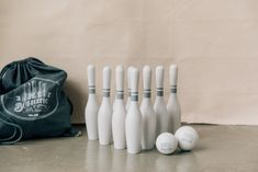 Wooden Bowling Set