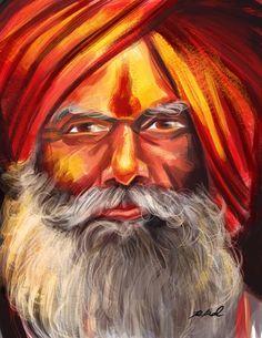 Indian Sadhu by R. Kamal on ARTwanted
