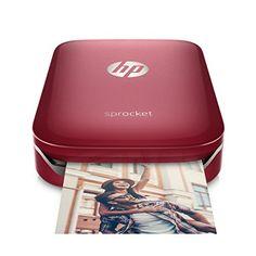 HP Sprocket Portable Photo Printer, print social media photos on 2x3 sticky-backed paper - red (Z3Z93A) - http://www.wahmmo.com/hp-sprocket-portable-photo-printer-print-social-media-photos-on-2x3-sticky-backed-paper-red-z3z93a/ - - WAHMMO