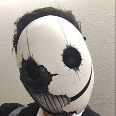 Mischa Baene added a photo of their purchase Creepy Masks, Creepy Art, Mascara Anbu, Mask Drawing, Arte Horror, Masks Art, 3d Prints, Art Plastique, Mask Design