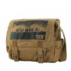 Men's Vintage Canvas Messenger Shoulder Military School Hiking Bag Sat | jiacase