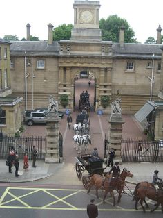 Royal Mews, London. went there but could not go in because they were practicing beach volleyball for the olympics