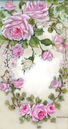 Graceful French Rose Wreath ~ Romantic Rose Paintings and Cherubs Art by Catherine Risi Vintage Rosen, Art Vintage, Decoupage Vintage, Vintage Cards, Vintage Paper, Vintage Images, Vintage Prints, Art Floral, Rose Oil Painting