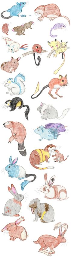 Rodent Pokemon by DragonlordRynn on deviantART