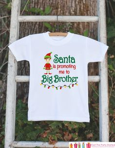 This adorable big brother outfit is the perfect way to announce your pregnancy this holiday season. It is just waiting to be worn by the little one in your life! Our graphics are professionally printe