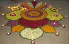 Rangoli Designs 2017 for Diwali Festival - Diwali 2017 Rangoli Designs Latest, Simple Rangoli Designs Images, Rangoli Designs Flower, Rangoli Border Designs, Rangoli Patterns, Colorful Rangoli Designs, Rangoli Ideas, Rangoli Designs Diwali, Diwali Rangoli