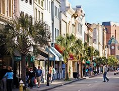 King Street, Charleston.  Unique stores and restaurants! A shopping experience you'll not want to leave and never forget. Every time I drive by we window shop