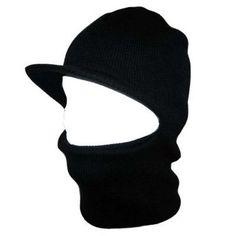 b2d4ac2f761 Private Island Party - Black Child One Hole Visor Ski Mask 3055