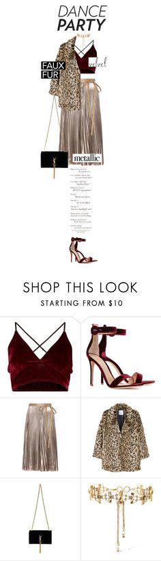 """""""Dance Party"""" by lily15 ❤ liked on Polyvore featuring Gianvito Rossi, Valentino, MANGO, Yves Saint Laurent, Erickson Beamon, danceparty and nye"""