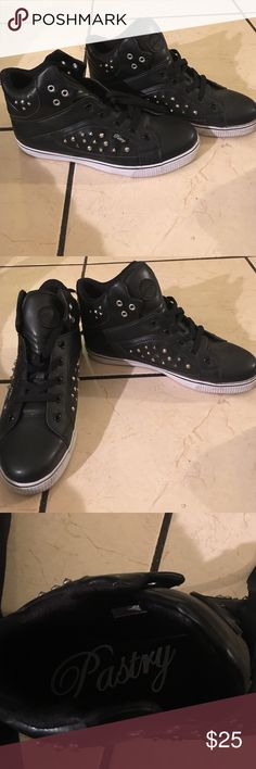 Pastry tennis shoes Pastry studded black high top tennis shoes pastry Shoes Athletic Shoes