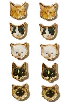Oh, hey there cat lady, this one's for you. #cat #earrings