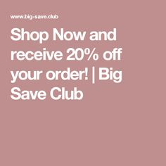 Big Save Club - is the oldest online coupon site offering free coupons & promo codes to thousands of stores. Online Coupons, Free Coupons, Printable Coupons, 20 Off, Shop Now, Club, Big, Places, Shopping