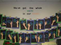 T's First Grade Class: Earth Day Love this art project for Earth Day Earth Day Projects, Earth Day Crafts, Earth Day Activities, Holiday Activities, Ecole Art, Thinking Day, New Earth, School Holidays, Art Classroom
