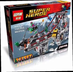 46.99$  Watch now - http://aliv2n.worldwells.pw/go.php?t=32763132725 - LEPIN 07038 1165Pcs Superhero Spider-Man Web Warriors Ultimate Bridge Battle Model Building Kits Minifigures Blocks Bricks 76057