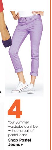 Summer must have pastel jeans and capris