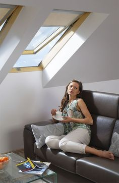FAKRO tetőtéri ablakok - Farm Tüzép  #FAKRO #FarmTüzép Couch, Furniture, Home Decor, Settee, Decoration Home, Sofa, Room Decor, Home Furnishings, Sofas