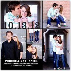 Signature White Photo Save the Date Cards Savvy Snapshots. I love these wedding announcements!