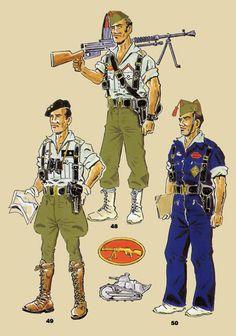 Le brêlage noir est caractéristique de la Légion, à l'époque.