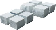 Pavés marbre blanc de Carrare