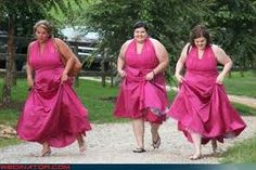 awful pink bridesmaid dress