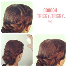 Best trick for hiding an unsightly part! #hair #tip #trick
