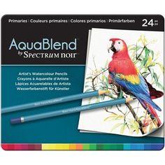 Crafter's Companion PRIMARIES Spectrum Noir AquaBlend Watercolour Pencils SPECABPRI24