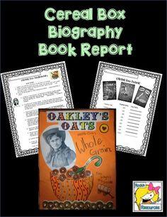 Fun way to do a biography book report!