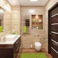 32 Small Bathroom Design Ideas for Every Taste - The Trending House Bathroom Design Small, Bathroom Layout, Bathroom Interior Design, Modern Bathroom, Bathroom Cabinets, Bathroom Vanities, Master Bathroom, Bathroom Designs, Minimalist Bathroom