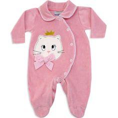 Macacão de Plush para Bebê e Recém Nascido Menina Rosa Antigo - Travessus :: 764 Kids   Roupa bebê e infantil