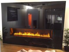 Peninsula Electric Fireplace with Water Vapor Technology. Handmade ...