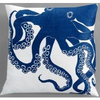 Dermond Peterson Octopus Indigo Pillow