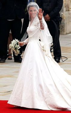 Kate Middleton- perfect bride. I tried not to get all caught up in the wedding craziness, but she was so absolutely stunning!!