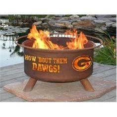 University of Georgia Bulldogs UGA Portable Steel Fire Pit Grill