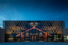 Vulcan Timber Screening in Sioo:x Finish Wanaka New Zealand, Marlborough Sounds, Lecture Theatre, Two Bedroom House, Timber Screens, Wood Cladding, Timber Structure, Architecture Awards, Crafts Beautiful