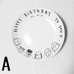 hentecoなバースデープレート【平皿or深皿】 by hentecoyamon 陶器・ガラス・食器 食器