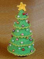 60 Beste Afbeeldingen Van Gehaakte Kerstbomen Christmas Ornaments